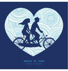 Doodle circle water texture couple on tandem vector