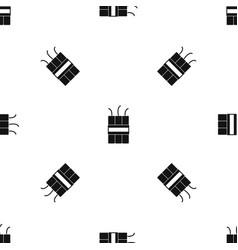 Dynamite explosives pattern seamless black vector