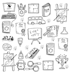 Education element for kids in doodle vector image