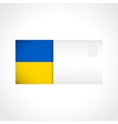 Envelope with Ukrainian flag card vector image
