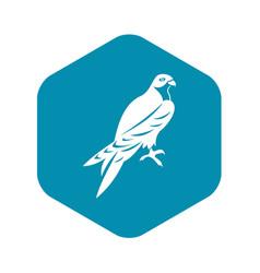 falcon icon simple style vector image