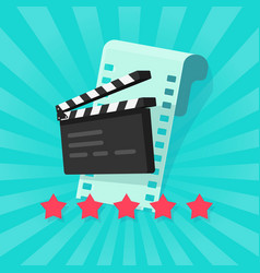 Film or movie cinematography rating or review vector