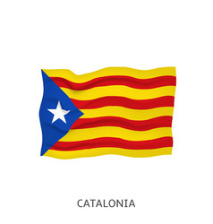 flag catalonia vector image