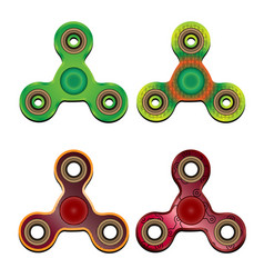 Four spinners of different texture and colors on vector
