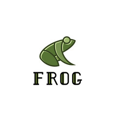 frog logos sign mark trend vector image
