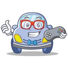Gamer cute car character cartoon vector
