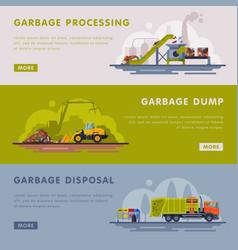 garbage processing dump disposal landing page vector image