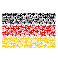 Germany flag collage of right arrow items vector