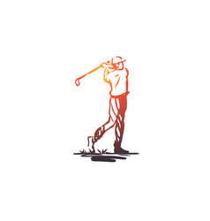 golf tournament game sport golfer concept vector image