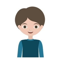 Half body child with t-shirt vector