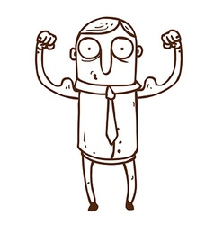Hand Drawn Muscly Man vector image