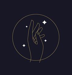 Hand logo design template vector