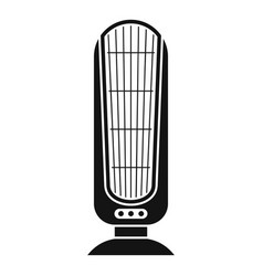 Heater fan icon simple style vector