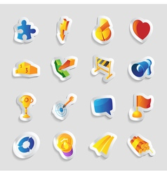 Icons for signs and metaphors vector image
