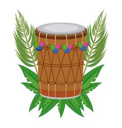 Indian drum instrument vector