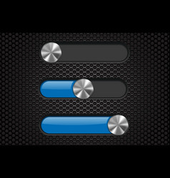 interface slider bar blue bar on dark perforated vector image
