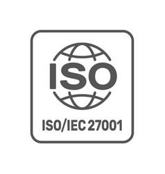 iso 27001 2013 standard certified - information vector image