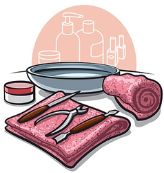 manicure tools vector image