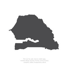 map senegal isolated black vector image