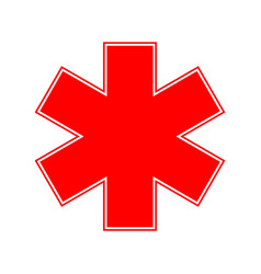 Medical emergency symbol vector