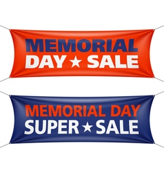 Memorial day sale banners vector