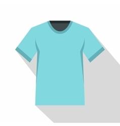 Men tennis t-shirt icon flat style vector image
