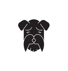 miniature schnauzer black concept icon vector image