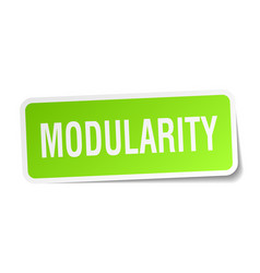 Modularity square sticker on white vector