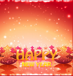 nature greetin card happy new year with christmas vector image