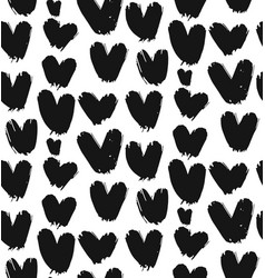 Painted heart pattern vector