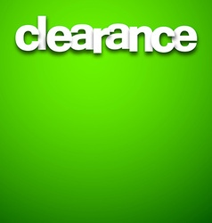 Paper clearance sign vector image