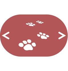 Paw prints icon vector