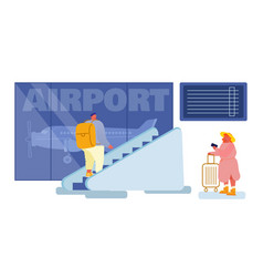 People in airport terminal concept passenger vector