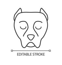 Pit bull cute kawaii linear character vector