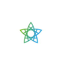 pixel star logo icon design vector image