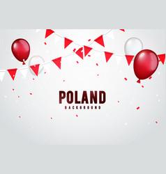 poland celebration background in polish colors vector image