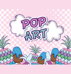 Pop art cartoons concept vector