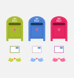 post mail boxes vector image