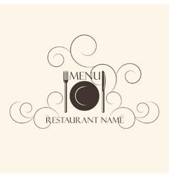 Restaurant menu design template vector image vector image