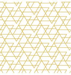 retro gold geometric seamless pattern vector image