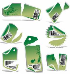 ripped label vector image