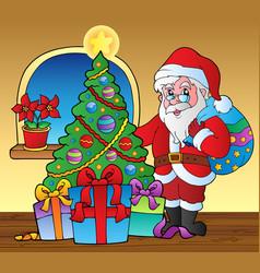 Santa claus indoor scene 5 vector