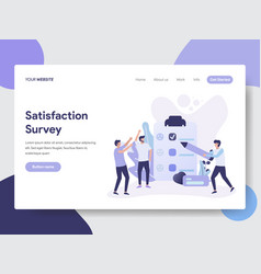 satisfaction survey vector image