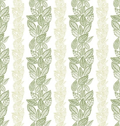 Seamless leaves pattern floral wallpaper hand vector image