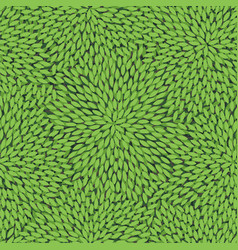 seamless pattern with green leaves vector image