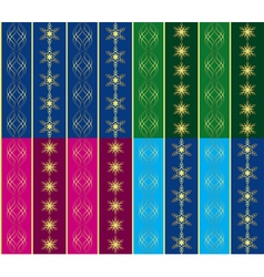 set of 4 seamless christmas textures vector image