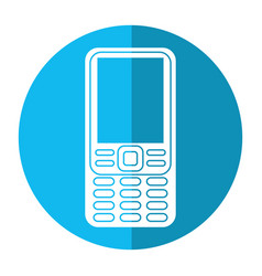 Smartphone mobile technology retro image vector