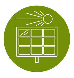 solar panel icon in thin line style vector image