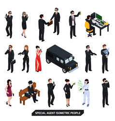 Special agent isometric people vector