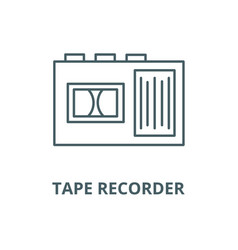 tape recorder line icon linear concept vector image